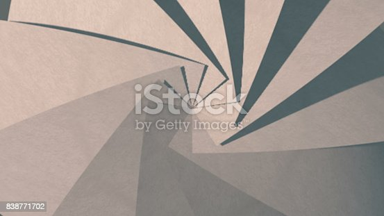 istock Abstract background with paper kaleidoscope 838771702