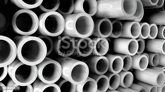 istock Abstract background with pipes 889984470