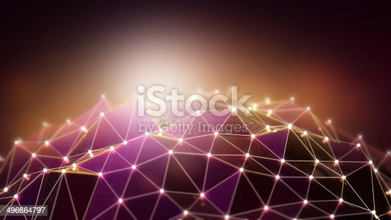 istock Abstract background with purple and brown polygons 496664797