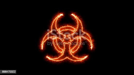 istock Abstract background with radioactive sign 898470022