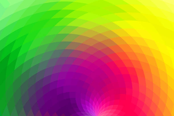 Abstract Background with Rainbow Colors stock photo