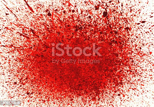 172646637 istock photo Abstract background with red ink splashes 806175856