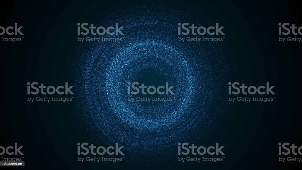 Abstract background with rotation particles stock photo