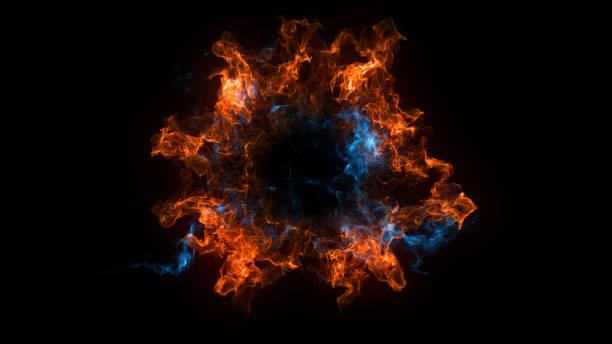 黒背景にする衝撃波爆発と抽象的な背景 ストックフォト