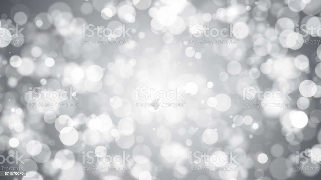 Abstract background with silver bokeh stock photo