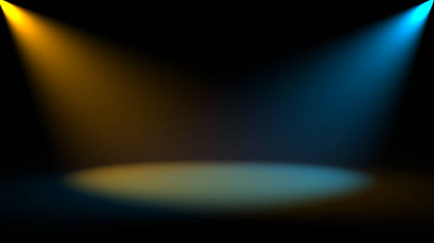 Abstract background with Spotlight. Digital 3d stock photo
