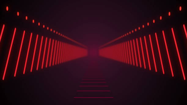 Abstract background with technology tunnel stock photo