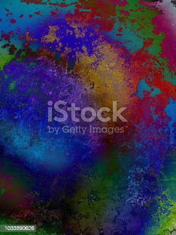 istock Abstract Background With Vibrant Color and Rough Texture 1033890626