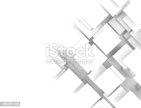 istock Abstract background with white squares 460081439