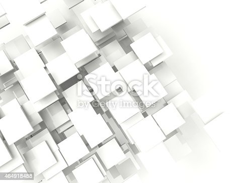 istock Abstract background with white squares 464918488