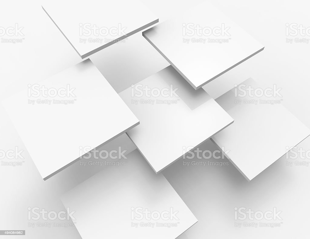 Abstract background with white squares stock photo