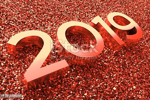 istock Abstract background with year number. 1181441049