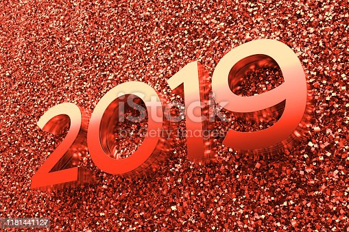 istock Abstract background with year number. 1181441127