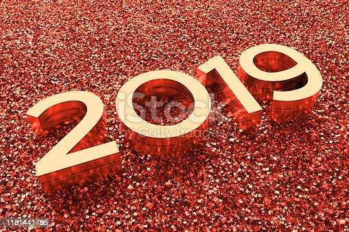 istock Abstract background with year number. 1181441795