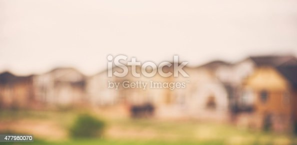 Abstract Backgrounds. Defocused row of houses.