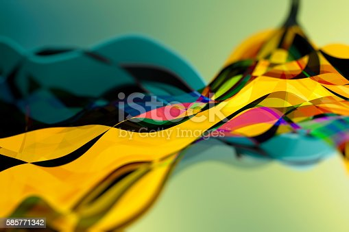 Abstract waves in saturated colours