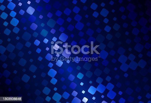 Beautiful and intense Horizontal image Background of an Abstract Pulsating Dot Lines on a Deep Blue atmosfere