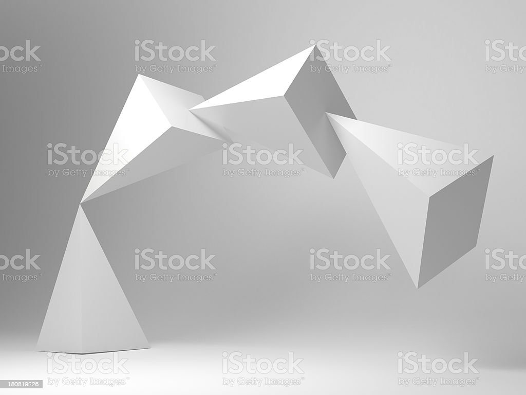 abstract balanced sculpture stock photo