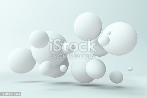 istock Abstract balls background. 3d illustration 1130961974