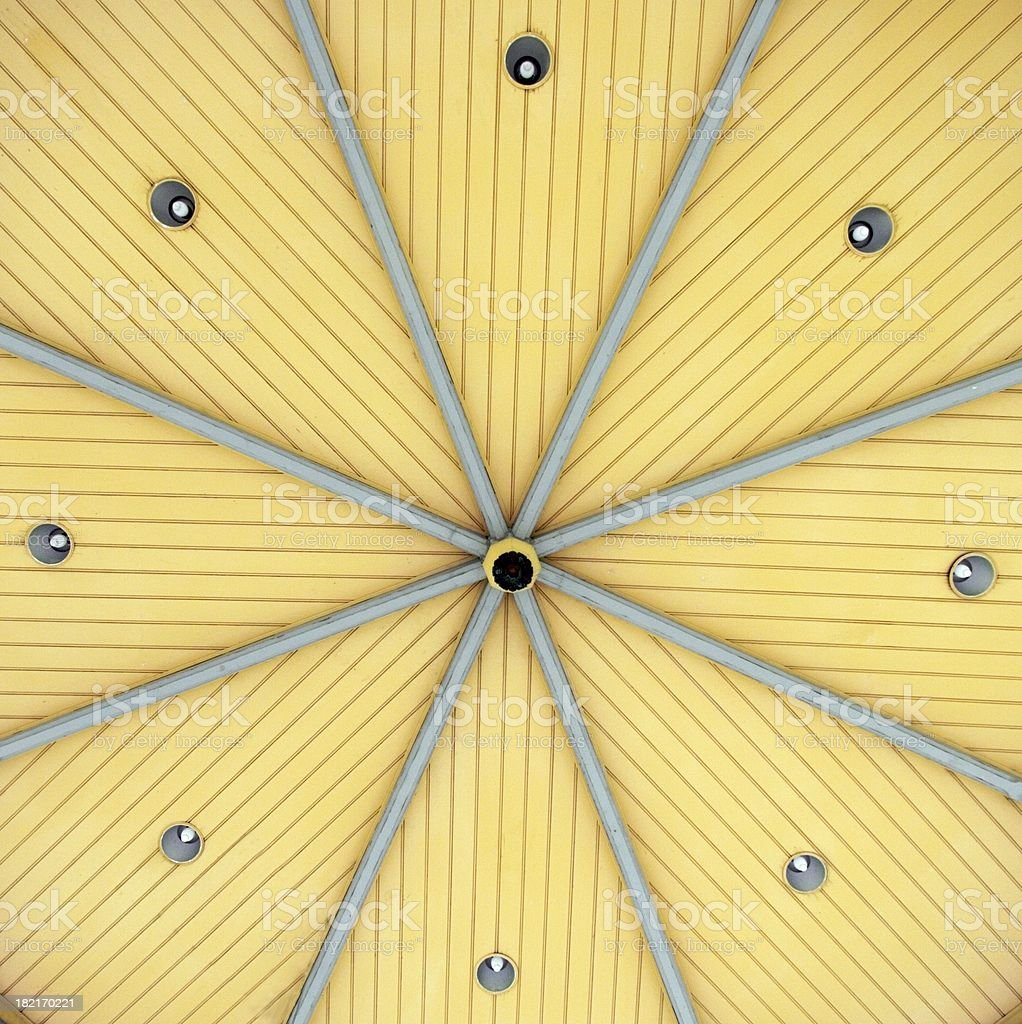 Abstract bandstand roof stock photo