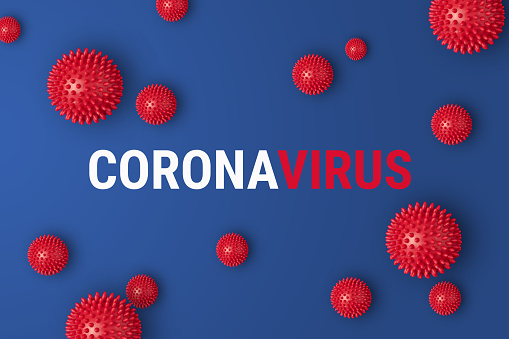 Abstract Banner Coronavirus Strain Model From Wuhan China Stock Photo - Download Image Now