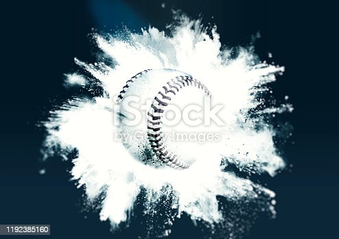 istock Abstract baseball ball 1192385160