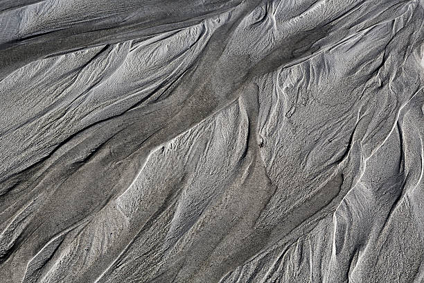 Abstract Beach Surface Lofted, Norway riverbed stock pictures, royalty-free photos & images