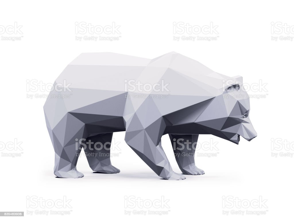 Abstract bear geometric stock photo