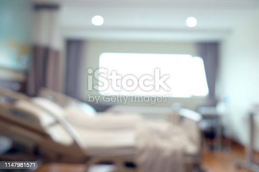 629429900istockphoto Abstract beautiful blur hospital interior for background 1147981571