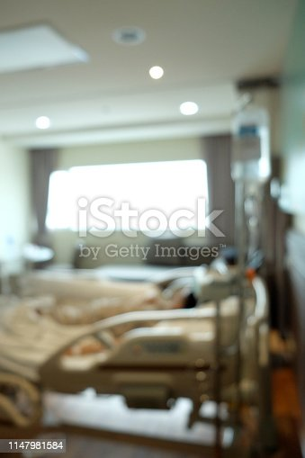629429900istockphoto Abstract beautiful blur hospital interior for background 1147981584