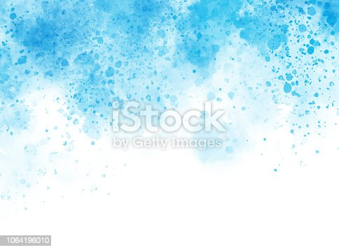istock Abstract beautiful Colorful shape watercolor illustration painting background and backdrop. 1064196010