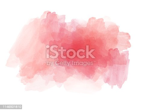 istock Abstract beautiful Colorful shape watercolor illustration painting background and texture backdrop. 1146501810