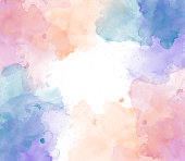 istock Abstract beautiful Colorful watercolor  painting  background, Colorful brush background 882812390