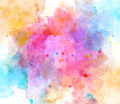 istock Abstract beautiful Colorful watercolor  painting  background, Colorful brush background 882830092