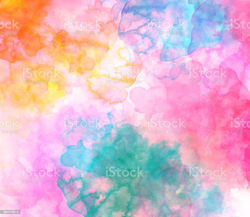 Schöne bunte Aquarell Hintergrund, bunte Bürste Hintergrund abstrakt – Foto