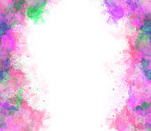 istock Abstract beautiful Colorful watercolor  painting  background, Colorful brush background 887849756