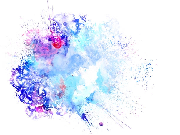belle aquarelle coloré abstrait, fond coloré brosse. - dessin au pastel photos et images de collection