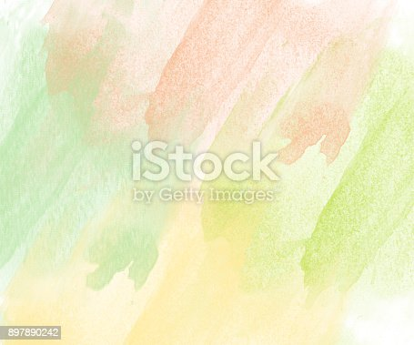 istock Abstract beautiful Colorful watercolor  painting  background, Colorful brush background 897890242