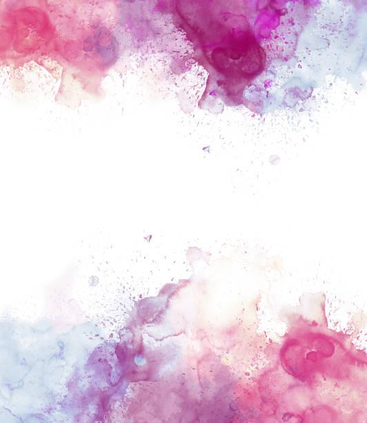 belle aquarelle coloré abstrait, fond coloré brosse. - aquarelle sur papier photos et images de collection
