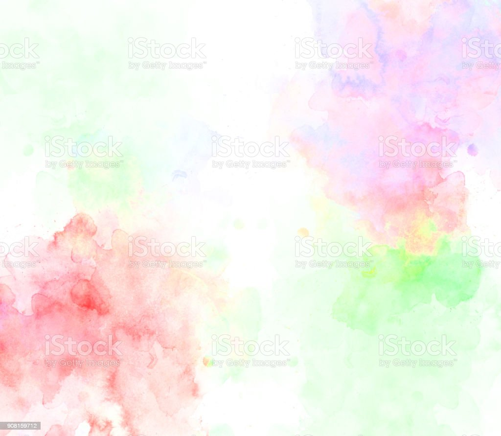 Abstract beautiful Colorful watercolor  painting  background, Colorful brush background stock photo