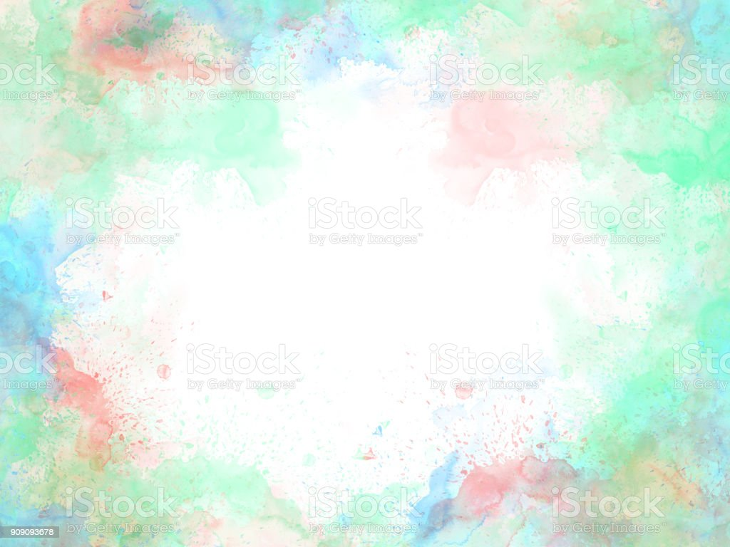 Abstract beautiful Colorful watercolor  painting  background, Colorful brush background. stock photo