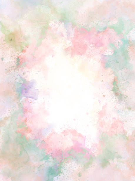 abstract beautiful colorful watercolor  painting  background, colorful brush background. - pastel colored stock pictures, royalty-free photos & images