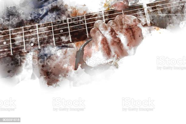 Abstract beautiful playing guitar in the foreground on watercolor picture id905591618?b=1&k=6&m=905591618&s=612x612&h=wkjrjy3y9pluhrjnlydvjjsngkr4dqqqdlwcahwxmkg=