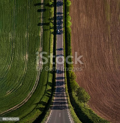 istock Abstract, bend perspective road 692462020