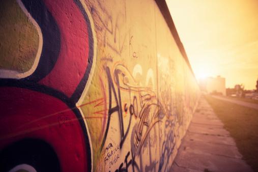 Abstract berlin wall graffiti - Germany