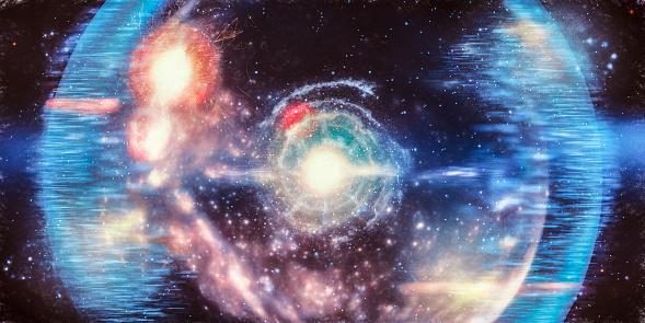 Abstract big bang conceptual image.