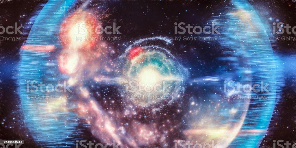 Abstract big bang conceptual image stock photo