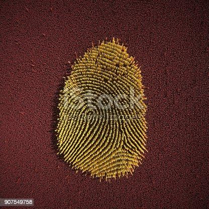 istock Abstract big data Fingerprint illustration 907549758