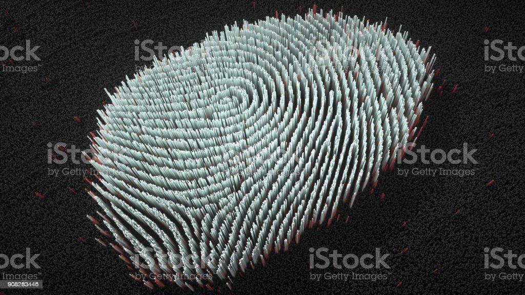 Abstract big data Fingerprint illustration stock photo