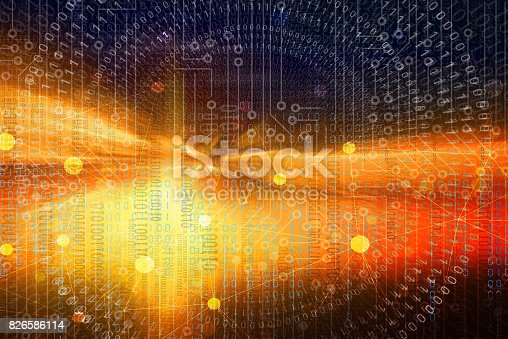 istock Abstract  Binary Code Background 826586114
